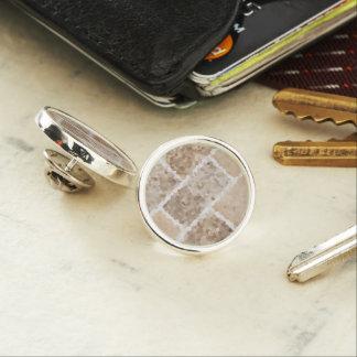 Tan Geometric Lapel Pin