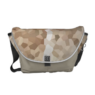 Tan Geometric Messenger Bags