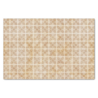Tan Geometric Pattern Tissue Paper