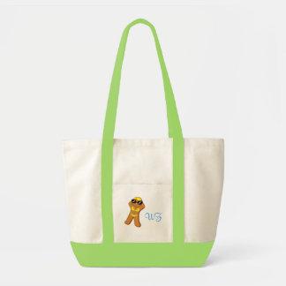 """""""Tan Gingerbread Girl™"""" with Custom Initials Tote Bag"""