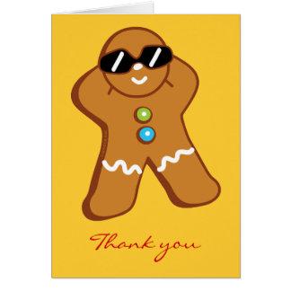 """Tan Gingerbread Man"" Thank You Card"