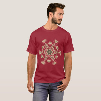 Tan Graphic on Maroon Shirt in Plus Sizes up 6x