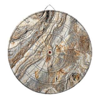 Tan Gray Crystal Stone Print Dart Boards