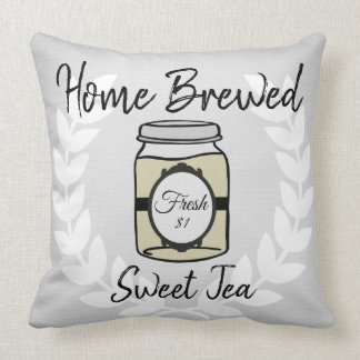 Tan Home Brewed Sweet Tea Pillow