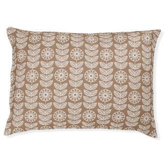 Tan Lace Floral (1).jpg Pet Bed