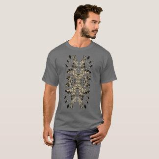 Tan Leaf Motif on Dark Grey Shirt Plus Sizes 6x