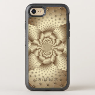Tan Leather Flower Optical Illusion OtterBox Symmetry iPhone 8/7 Case