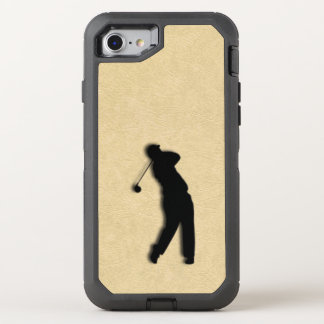 Tan Leather Golf OtterBox Defender iPhone 7 Case