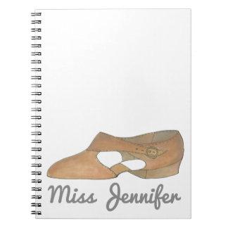 Tan Lyrical Shoe Dance Teacher Recital Dancer Gift Notebook