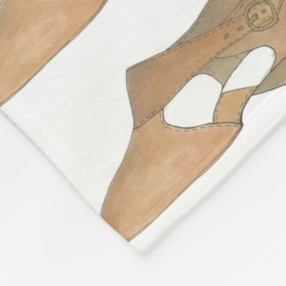 Tan Lyrical Shoe Modern Dance Dancer Blanket