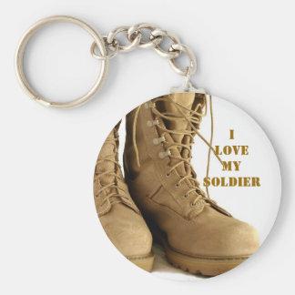 tan military boots keyhain keychain