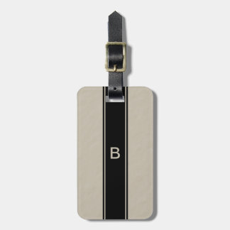 Tan Monogram Luggage Tag for Men