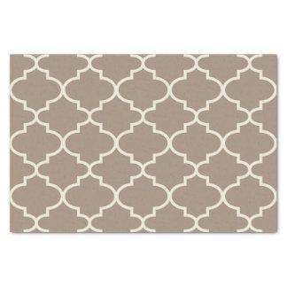 Tan Moroccan Lattice Pattern Tissue Paper