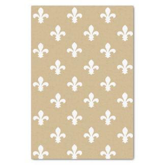 Tan Neutral Fleur de Lys Tissue Paper