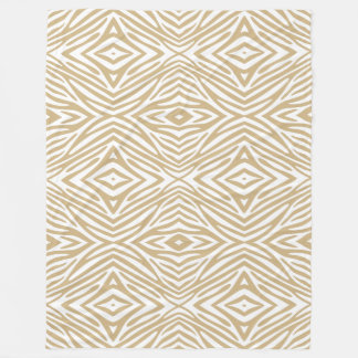 Tan Neutral Zebra Fleece Blanket