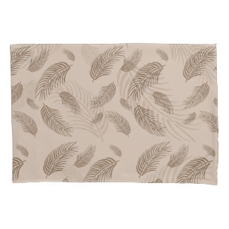 tan palm fronds pillowcase