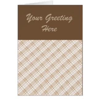 tan plaid card