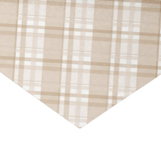 tan plaid tissue paper