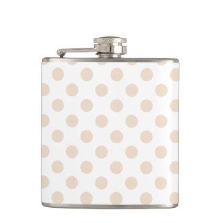 Tan polka dots flasks