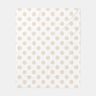 Tan polka dots fleece blanket