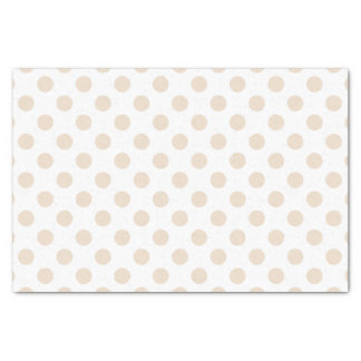 Tan polka dots tissue paper