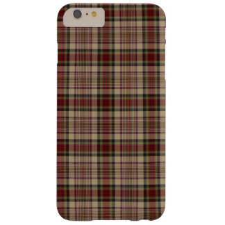 Tan, Red and Green Plaid Barely There iPhone 6 Plus Case