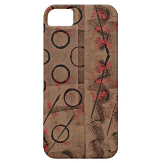 Tan Red Black Abstract iPhone 5 Cases