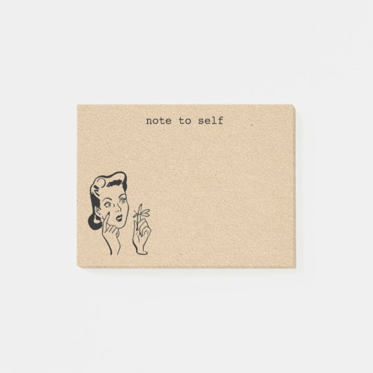 Tan Retro Housewife Reminder Post-it Notes