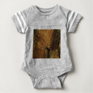 tan rock texture baby bodysuit