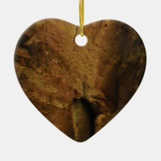 tan rock texture ceramic ornament