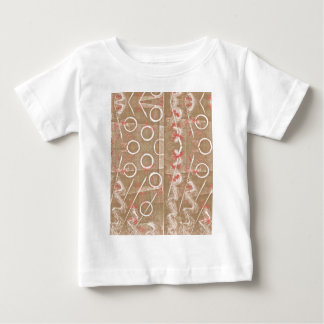 Tan Rust White Abstract Baby T-Shirt