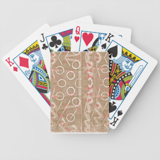 Tan Rust White Abstract Bicycle Playing Cards