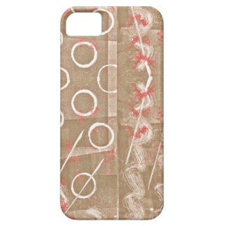 Tan Rust White Abstract Case For The iPhone 5