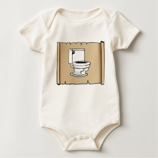 tan scroll toilet baby bodysuit