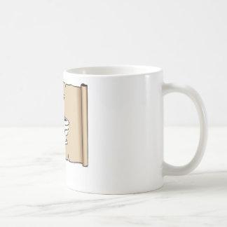 tan scroll toilet coffee mug