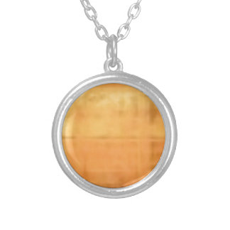 tan smooth texture silver plated necklace