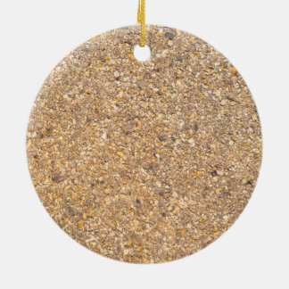 Tan Stone Rock Textured Pattern Background Ceramic Ornament
