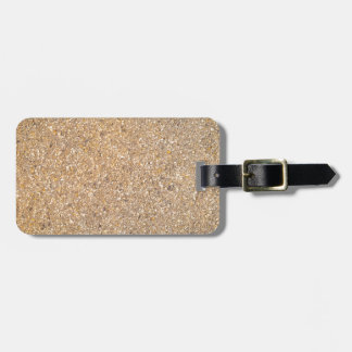 Tan Stone Rock Textured Pattern Background Luggage Tag