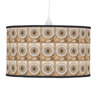 Tan Sunflower Pendant Lamp