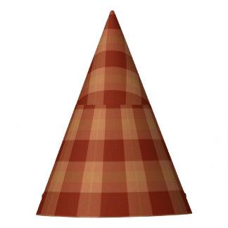 Tan Tartan Party Hat