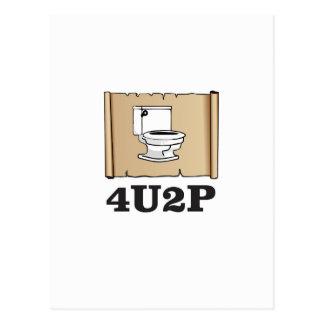 tan toilet scroll postcard