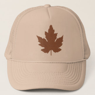 Tan Trucker Hat with Maple Leave