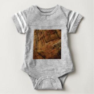 tan vertical sandstone lines baby bodysuit