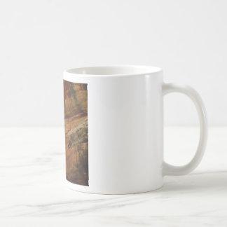 tan vertical sandstone lines coffee mug