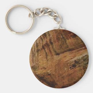 tan vertical sandstone lines keychain