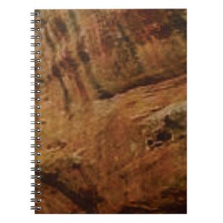 tan vertical sandstone lines notebook