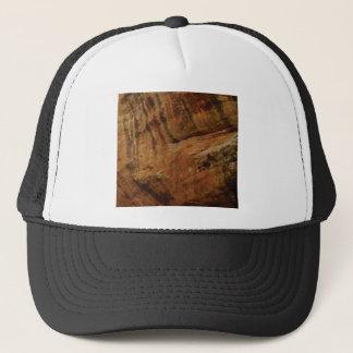 tan vertical sandstone lines trucker hat