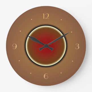 Tan with Red Centre>Simplistic Wall Clocks