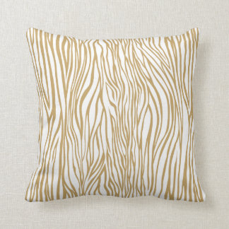 Tan Zebra Animal Print Throw Pillow