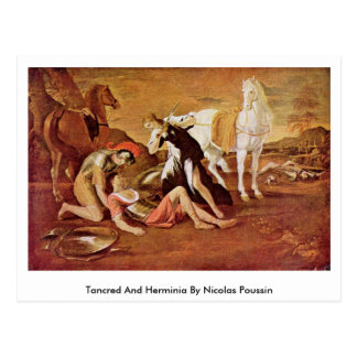 Tancred And Herminia By Nicolas Poussin Postcard